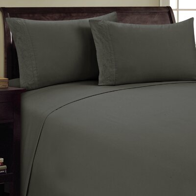 Lotus Leaf Sheet Set Size: King, Color: Gray