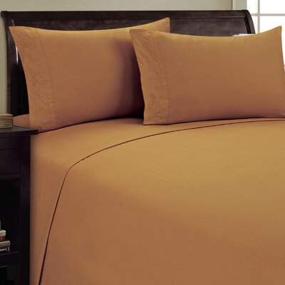 Lotus Leaf Sheet Set Size: Queen, Color: Light Brown