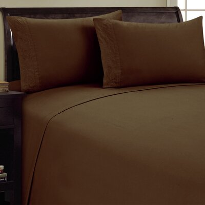 Lotus Leaf Sheet Set Size: Queen, Color: Chocolate