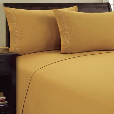 Fern Sheet Set Size: Queen, Color: Camel