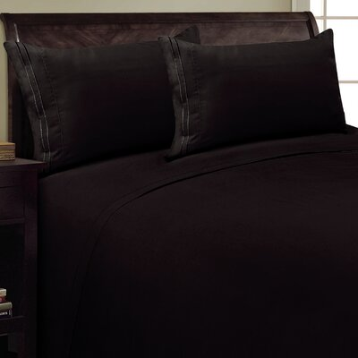 Two Line Sheet Set Size: King, Color: Black