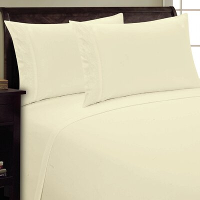 Fern Sheet Set Color: Cream, Size: Full