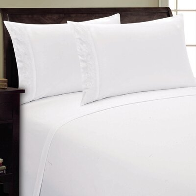 Fern Sheet Set Color: White, Size: Twin