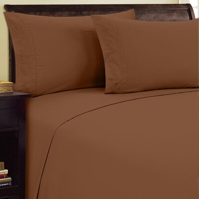 Fern Sheet Set Size: Queen, Color: Light Brown
