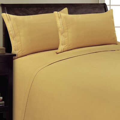 Two Line Sheet Set Size: Queen, Color: Camel