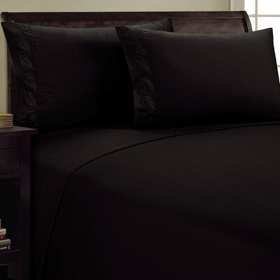 Fern Sheet Set Color: Black, Size: Twin