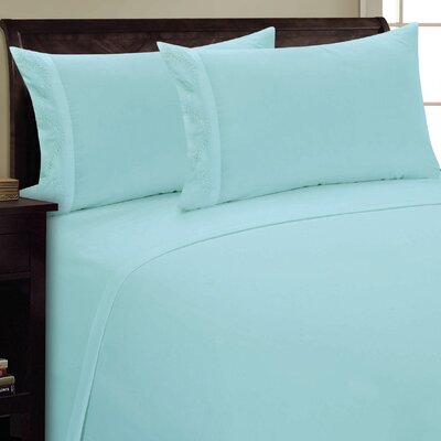 Fern Sheet Set Size: King, Color: Aqua