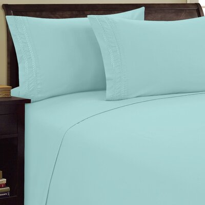 Chain Link Sheet Set Size: King, Color: Aqua