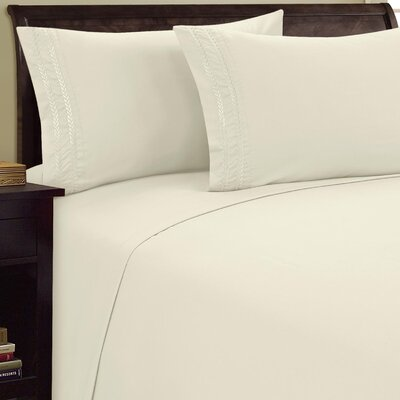 Chain Link Sheet Set Color: Cream, Size: Full