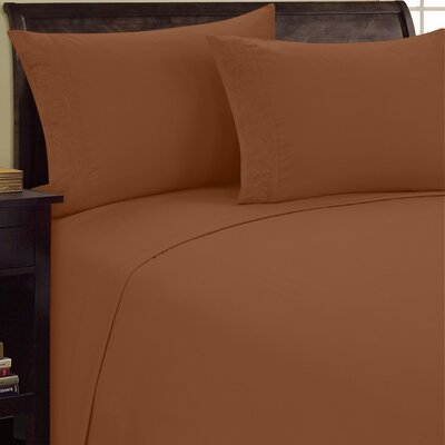 Scroll Design Sheet Set Size: Twin, Color: Light Brown