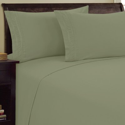Chain Link Sheet Set Size: King, Color: Sage
