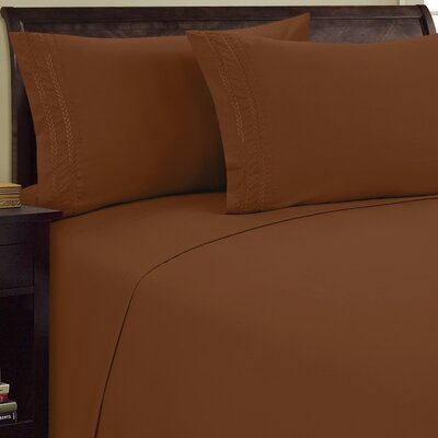 Chain Link Sheet Set Size: King, Color: Light Brown