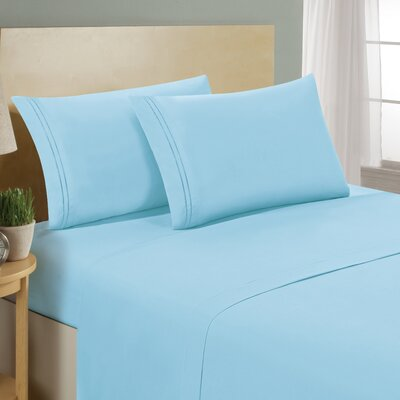 Two Line Sheet Set Color: Sage, Size: Twin