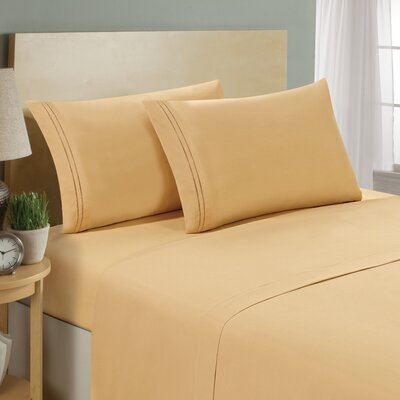 Two Line Sheet Set Size: Twin, Color: Camel