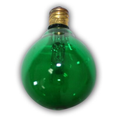 Incandescent Light Bulb Color: Green