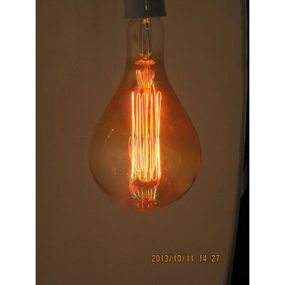 Orange Incandescent Light Bulb