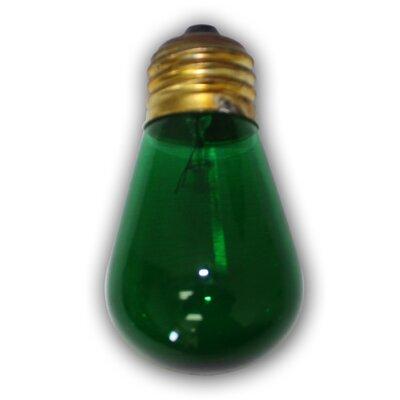 11W Green E26 Incandescent Vintage Filament Light Bulb