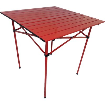 Portable Dining Table in Red
