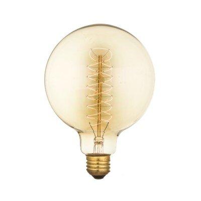 40W Amber E26 Incandescent Edison Globe Light Bulb