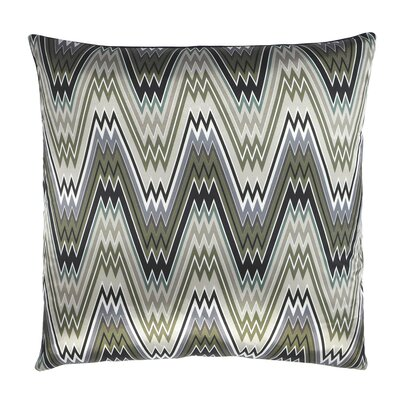 The Big Zigbowski Zig Zag Chevron Satin Throw Pillow