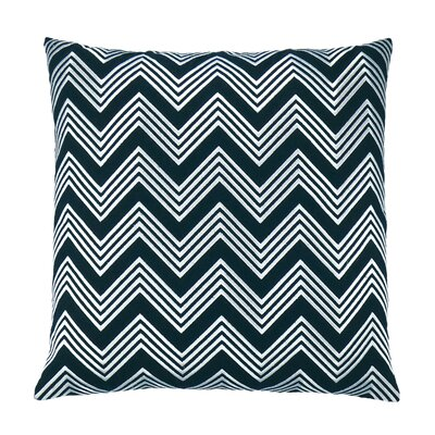 Zigzag Chevron Embroidered Throw Pillow Color: Black