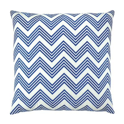 Zigzag Chevron Embroidered Throw Pillow Color: Blue