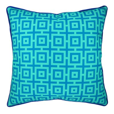 And in Summation Geometric Throw Pillow Color: Blue