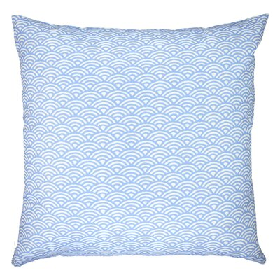 Woodblock Scales Arches Graphic Throw Pillow Color: Sky