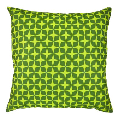 Star Printed Graphic Throw Pillow Color: Green