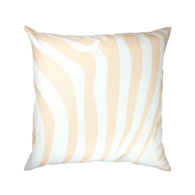 Animal Print Zebra/Leopard Peach Throw Pillow