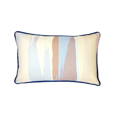 Linen Lumbar Pillow Color: Streak Blue