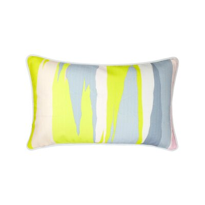 Linen Lumbar Pillow Color: Painterly Chartreuse