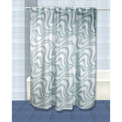 Tidal Shower Curtain Set Color: Blue