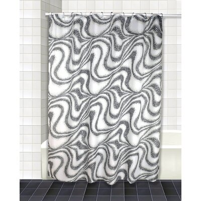 Tidal Shower Curtain Set Color: Silver