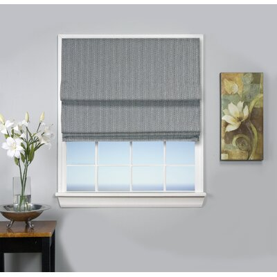 Johnson Village Blackout Roman Shade Size: 36 W x 63 L, Color: Smoke