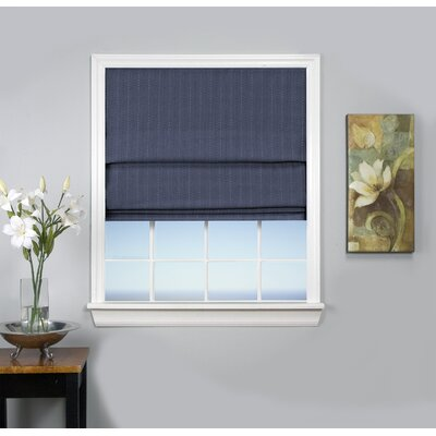 Johnson Village Blackout Roman Shade Size: 34 W x 63 L, Color: Deep Blue