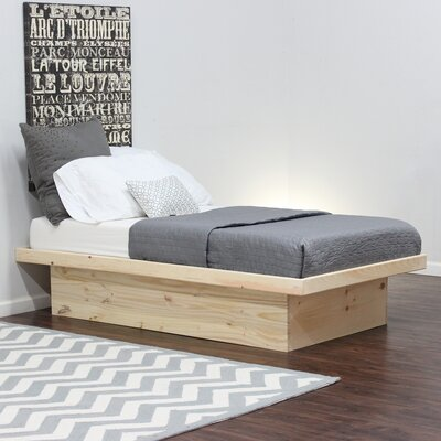 Platform Bed Size: Twin, Color: Natural Teak