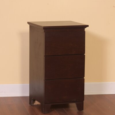 Flat Shaker 3 Drawer Nightstand Color: Espresso