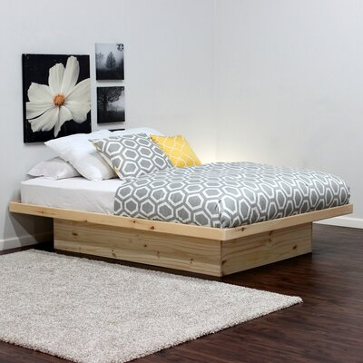 Platform Bed Size: Full, Color: Unfinished