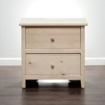 Little Neck 2 Drawer Nightstand Color: Natural Teak