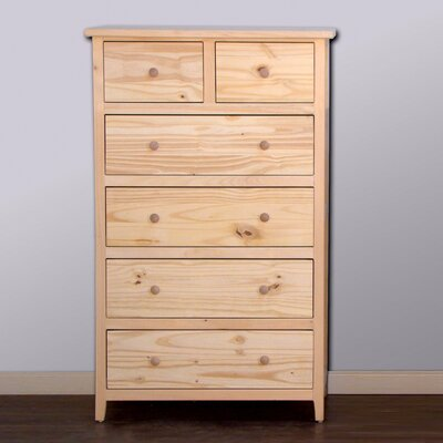 Little Neck 6 Drawer Chest Color: Espresso