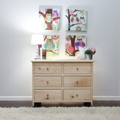 Little Neck 6 Drawer Double Dresser Color: Natural Teak