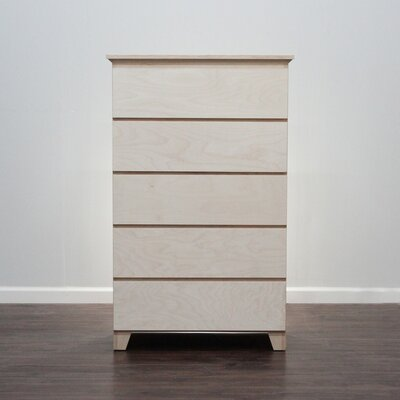 Flat Shaker 5 Drawer Chest Color: Unfinished