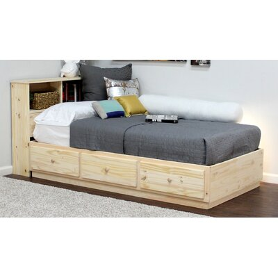 Twin Panel Bed Finish: Natural Teak