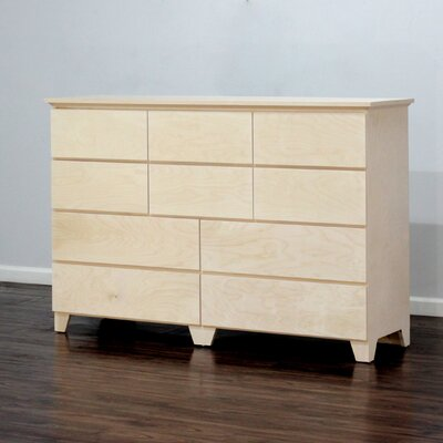 Flat Shaker 10 Drawer Dresser Finish: Unfinished