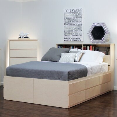 Platform Bed Size: Queen, Color: Unfinished