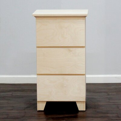 Flat Shaker 3 Drawer Nightstand Color: Unfinished