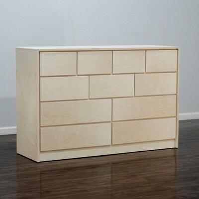 Art Deco 11 Drawer Standard Dresser Color: Unfinished