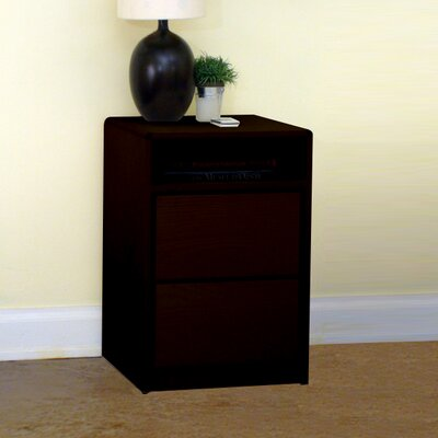 Art Deco 2 Drawer Nightstand Finish: Espresso