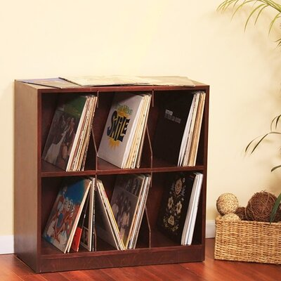 Record Tabletop Storage Color: Natural Teak